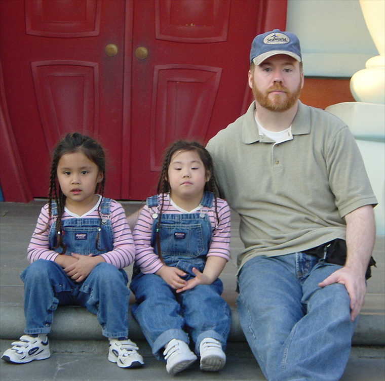 William Robert Stanek with his daughters